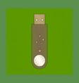 flat shading style icon flash drive vector image