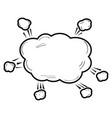 isolated comic speech bubble vector image