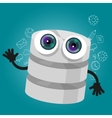 database big data storage cartoon hands eyes vector image
