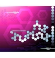 Hexagon pink futuristic background abstraction vector image