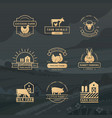 a large collection logos for farmers vector image