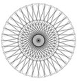 abstract spiral guilloche-like circular pattern vector image