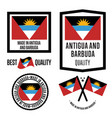 antigua and barbuda quality label set for goods vector image vector image