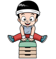 Boy jumping vector image