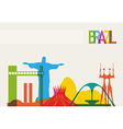 Brazil tourism skyline vector image vector image