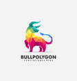bull polygon futuristic mark design vector image