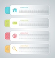 Business infographics tabs template for presentati vector image vector image