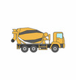 cement mixer truck vector image