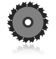 Circular saw blade on a white background vector image