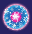 color christmas winter pattern with vector image