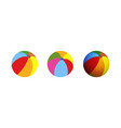 colorful beach ball flat and vector image vector image