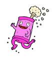 comic cartoon crazy soda can vector image vector image