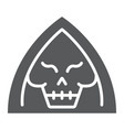 death glyph icon halloween and horror reaper vector image vector image