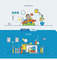 desk work career growth investment growth vector image vector image