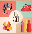 discount big summer sale set vector image vector image