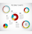 donut pie chart templates vector image vector image