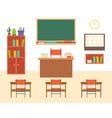empty classroom or study room interior background vector image vector image