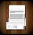 envelope document pen stationery template business vector image