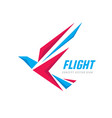 flight - creative bird logo design wings abstract vector image