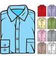 Folded Shirts Collection vector image vector image