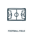 football field icon mobile apps printing and vector image vector image