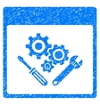 Gear Tools Calendar Page Grainy Texture Icon vector image vector image