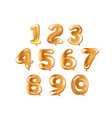 golden number set balloon vector image