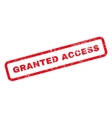 Granted Access Text Rubber Stamp vector image vector image