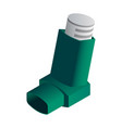 green inhaler icon isometric style vector image vector image
