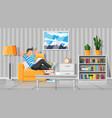 interior modern living room vector image vector image