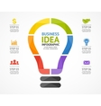 light bulb infographic Template for circle vector image vector image