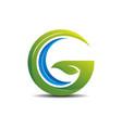 little gc green logo concept vector image vector image