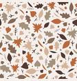 lovely autumn leaves seamless pattern in light vector image