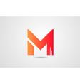 m orange alphabet letter logo icon design vector image vector image