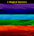magical banners vector image vector image