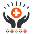 medical prosperity flat icon vector image vector image
