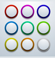modern colorful circle icon set vector image vector image