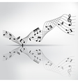musical chord and reflection on shadow background vector image vector image