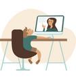 online education during coronavirus quarantine vector image