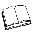 open book learn read knowledge study vector image vector image