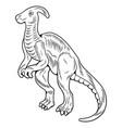 parasaurolophus big dangerous dino dinosaur vector image