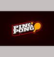 ping pong mascot modern professional sport vector image vector image