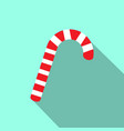 red and white christmas candy cane icon vector image