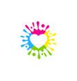 romance paint logo icon design vector image