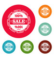 sale logo simple style vector image vector image