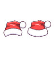 santa claus hat in flat style cartoon vector image