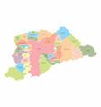 sao paulo metropolitan region map vector image vector image