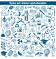 Science And Education Doodles Icons Set vector image vector image