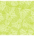 Seamless nature pattern with green leaves vector image