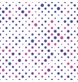 seamless polka dot pattern pink violet and blue vector image vector image